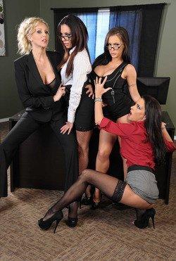 Jenna Presley & Julia Ann & Jessica Jaymes & Kirsten Price • Office 4