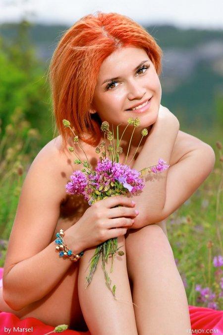 Огненно-рыжая Дина, откровенное фото рыжих